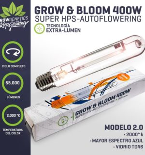 Ampolleta Grow & Bloom 400W – Grow Genetics
